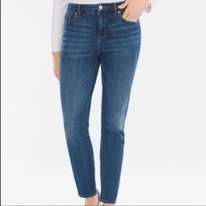 NEW Chico's girlfriend cropped midrise ankle jean